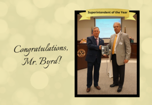 Congratulations, Mr. Byrd!