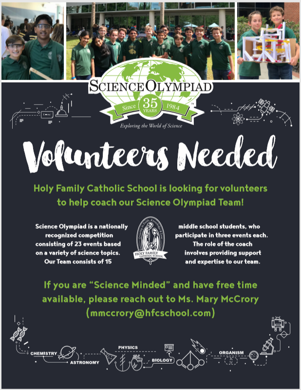Science Olympiad Volunteers Needed Featured Photo