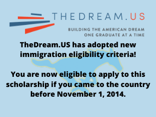 Dream Scholarship Eligibility Criteria