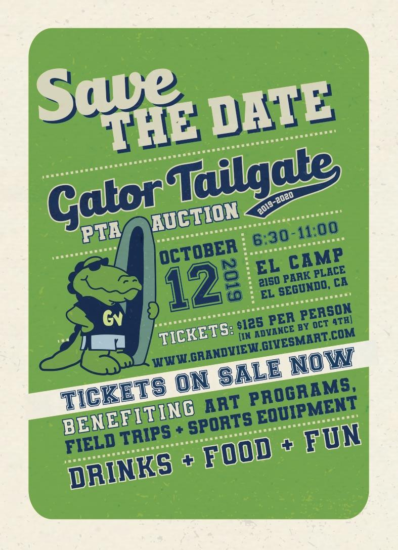Parent Party Tailgate Save the Date