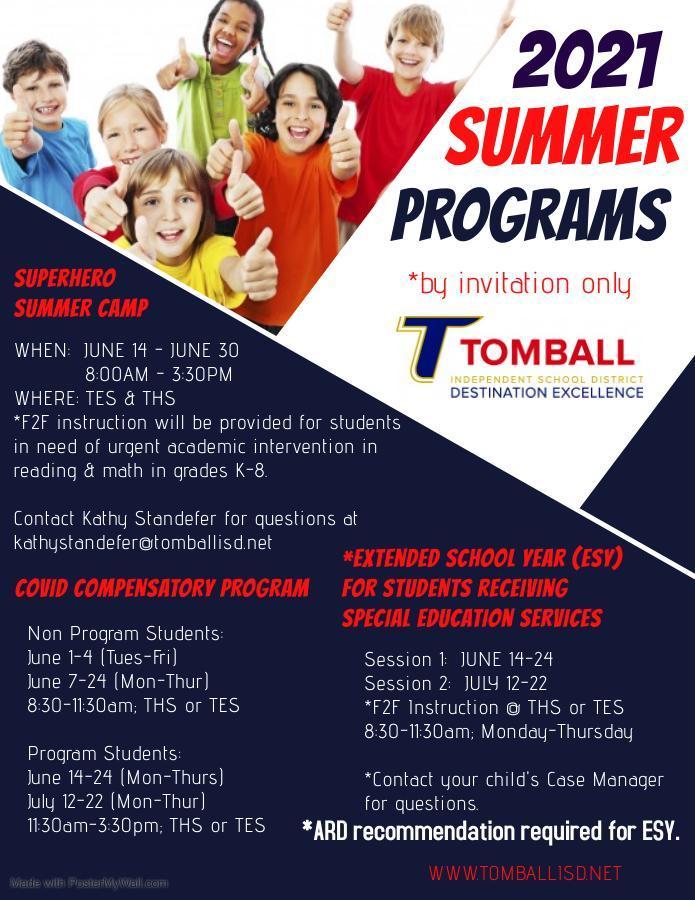 Summer Invite Programs 2021