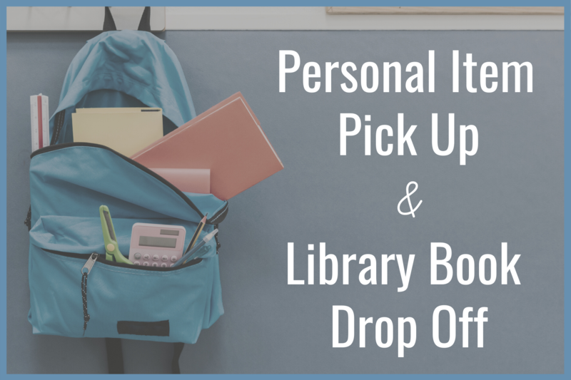 personal item pick up and library book drop off