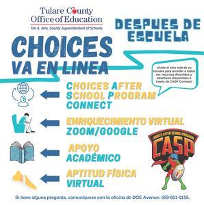 Choices Flyer Spanish