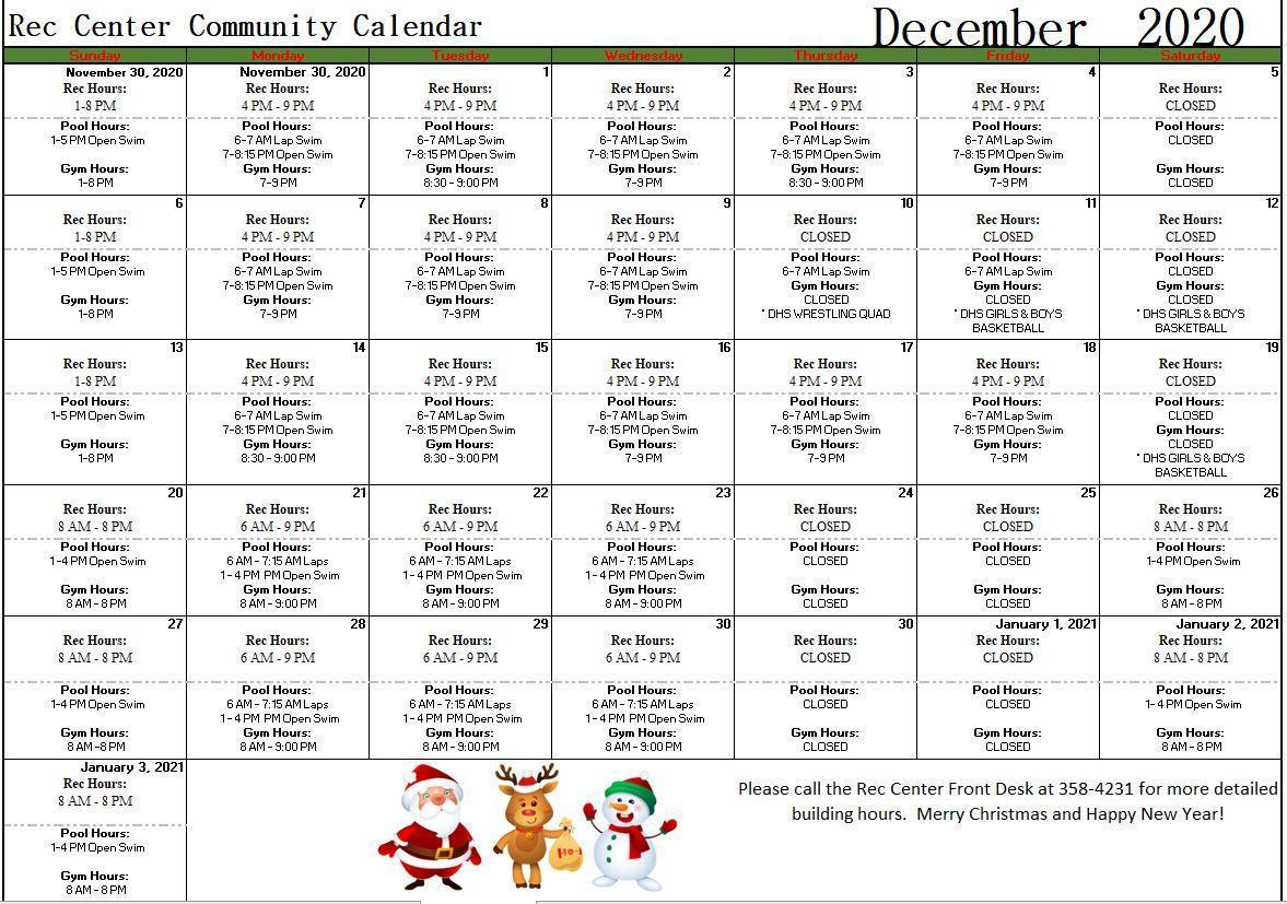 Dec 2020 Community Calendar