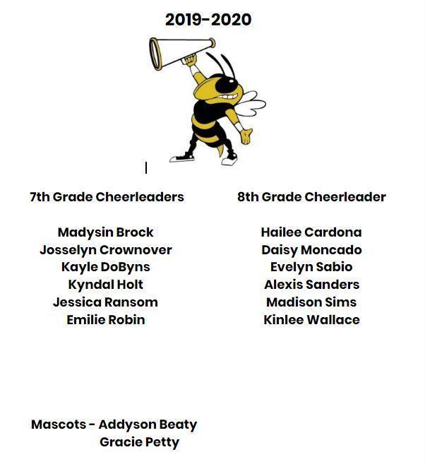 2019-2020 Middle School Cheerleaders Thumbnail Image