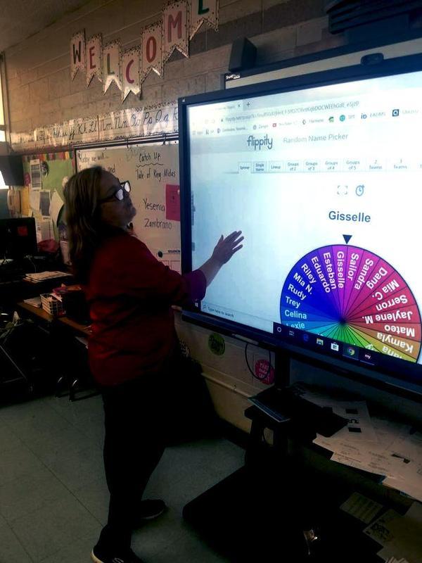 teacher zambrano in class