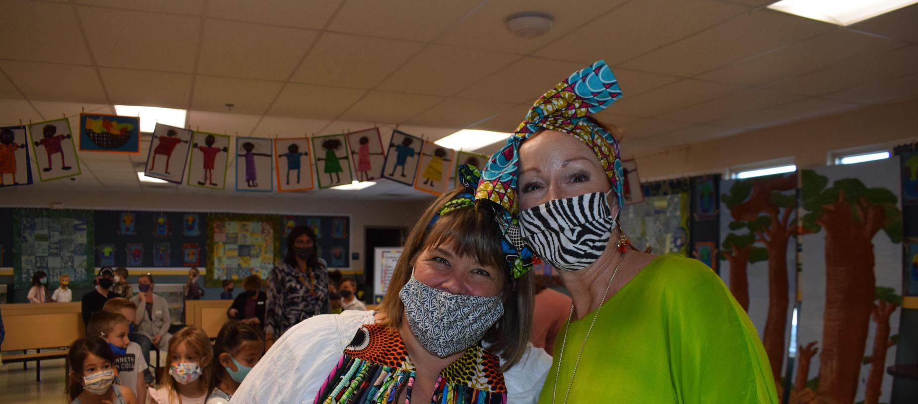 Ms. Steers and Ms. Bush at International Day South Africa