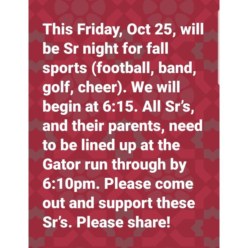 Senior Night Event