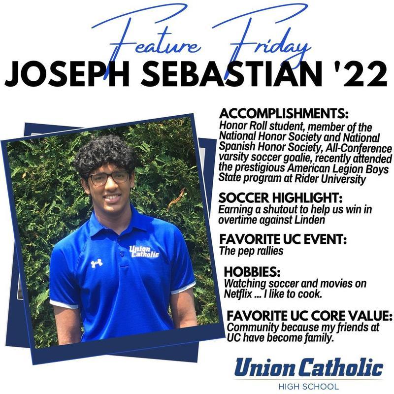 Joe Sebastian stars on the soccer field and in the classroom at Union Catholic Thumbnail Image