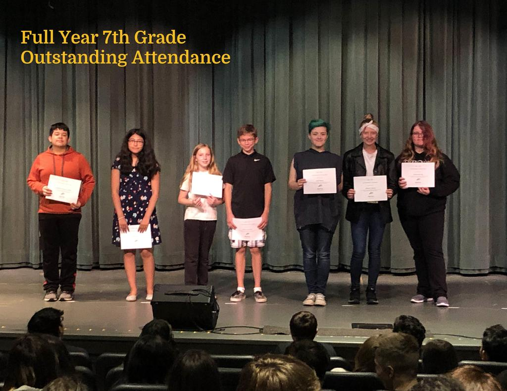 FY 7th Grade Outstanding Attendance