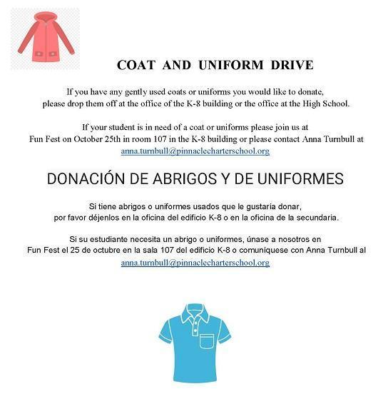 Coat and Uniform Drive