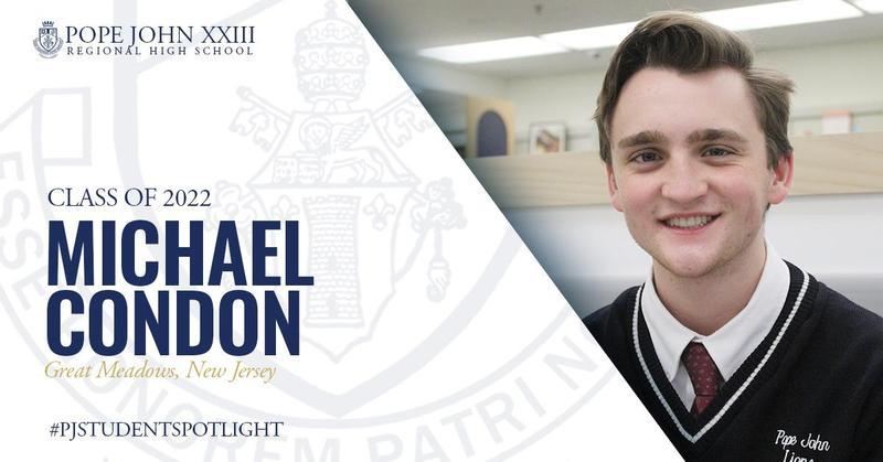 Pope John Student Spotlight Michael Condon