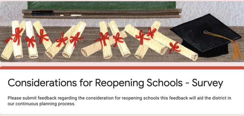 GLCSD Consideration for Reopening Schools Stakeholder Survey Featured Photo