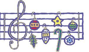 holiday music staff