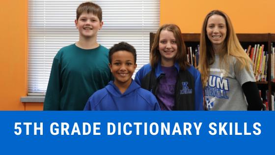 5th grade dictionary skills