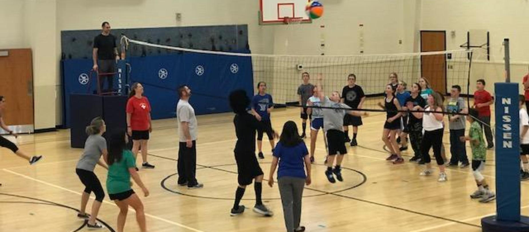student v teachers volleyball