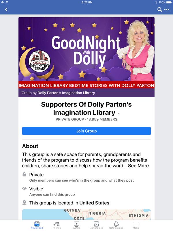 Imagination Library Facebook Goodnight Dolly
