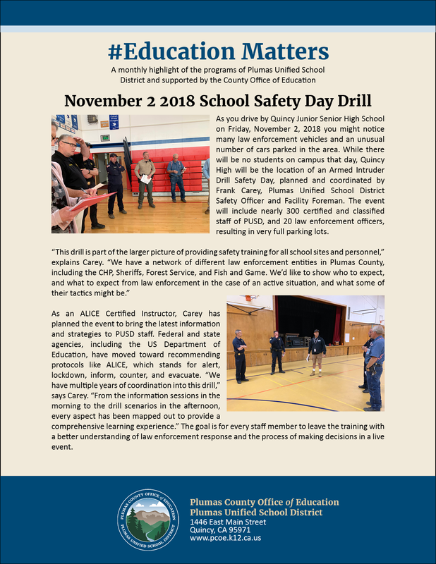 Flyer for Nov 2 Safety Day Drill