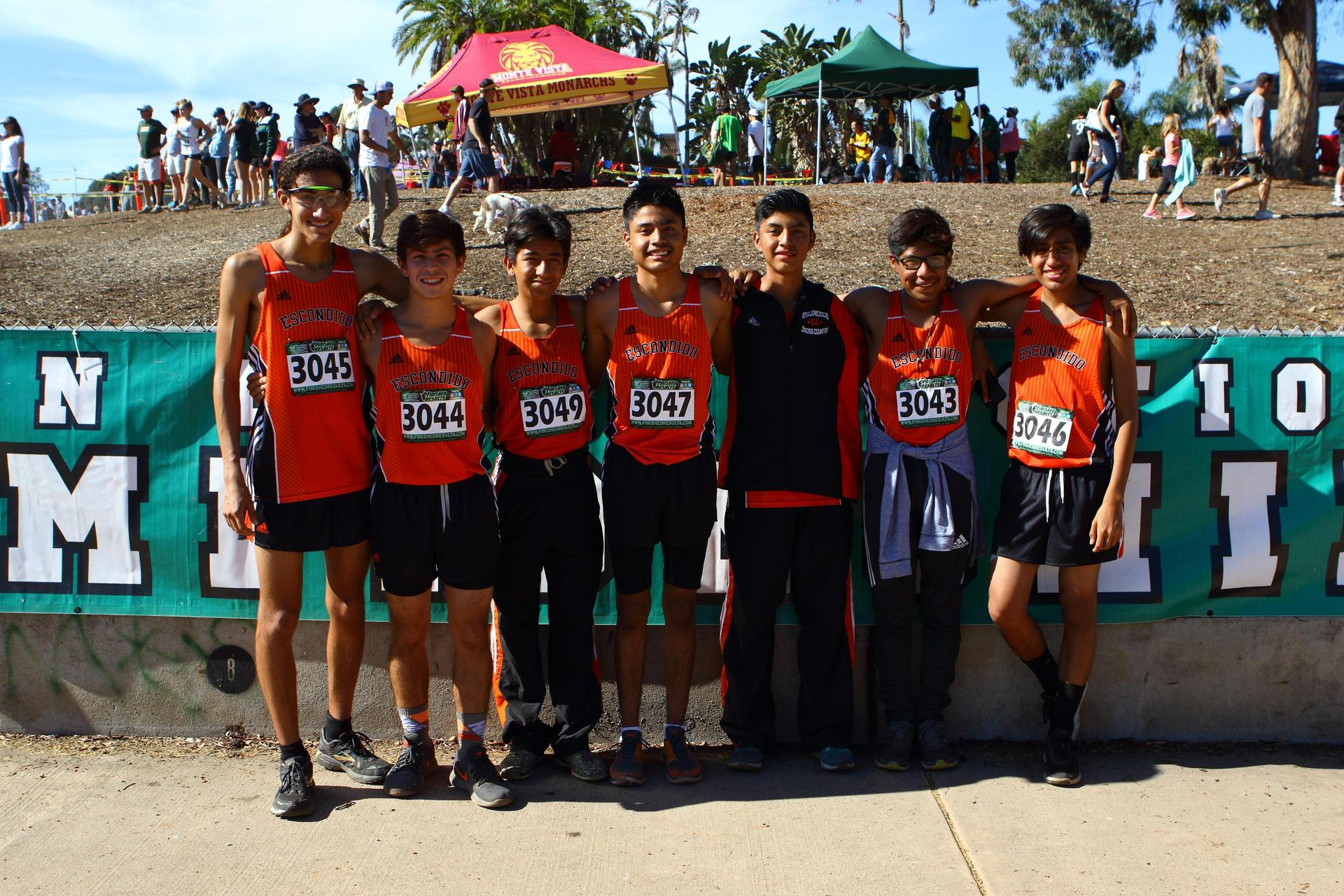 EHS Boys Cross Country Team pose for a picture