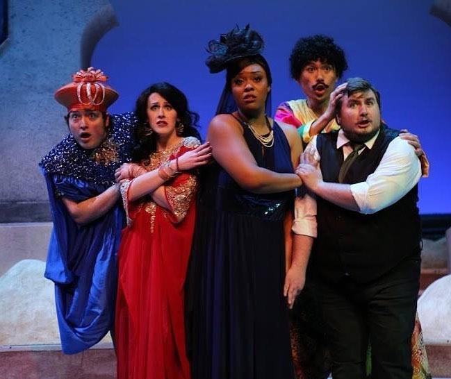 Arlie Kidd and the principal cast of L'Italiana in Algeri