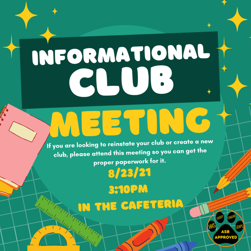 Informational Club Meeting Featured Photo
