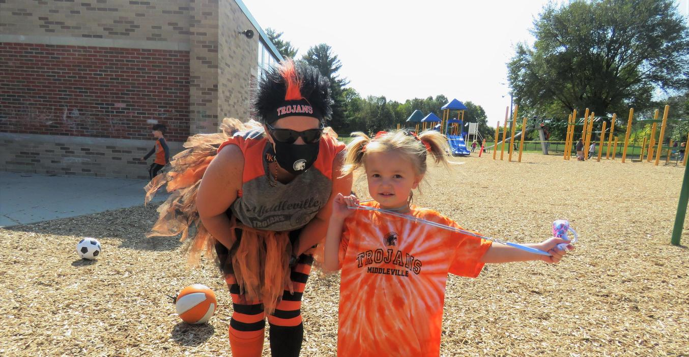 Students and staff donned their orange and black to show their TK Trojan pride.