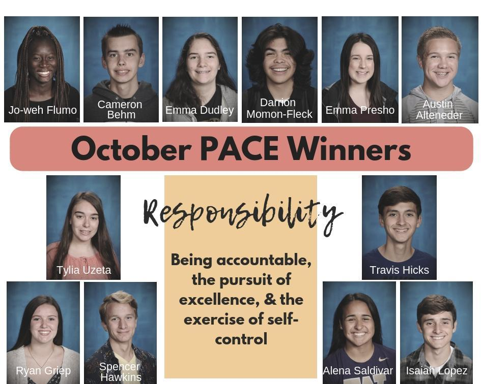 October PACE Winners