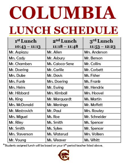 LunchSchedule
