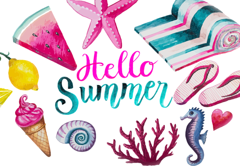 Water color of summer images