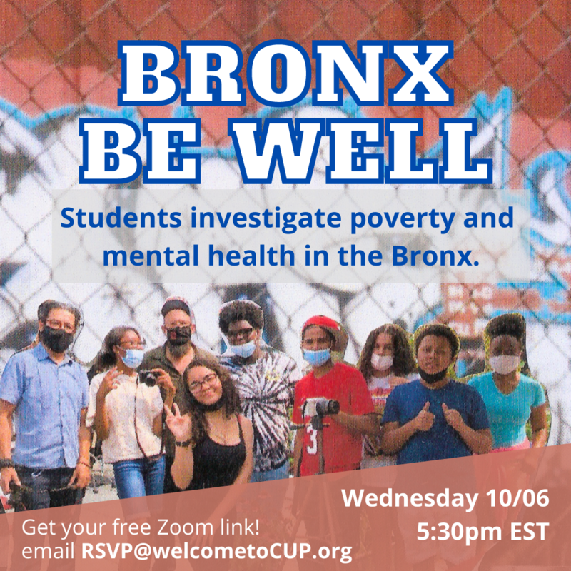 Bronx Be Well -- Fannie Lou Students and Center for Urban Pedagogy Create Documentary about Mental Health Issues Featured Photo
