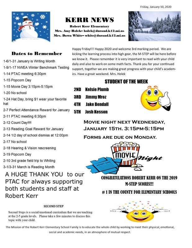 RK Newsletter 1-10-20 Featured Photo