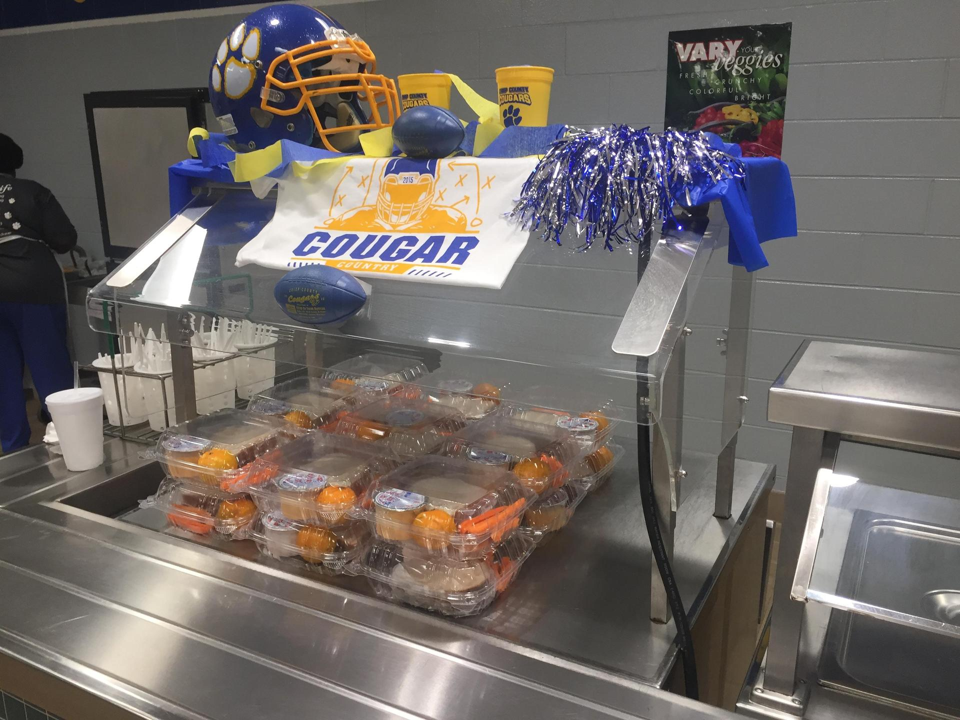 High School offers some grab n go options for students who are duel enrollment