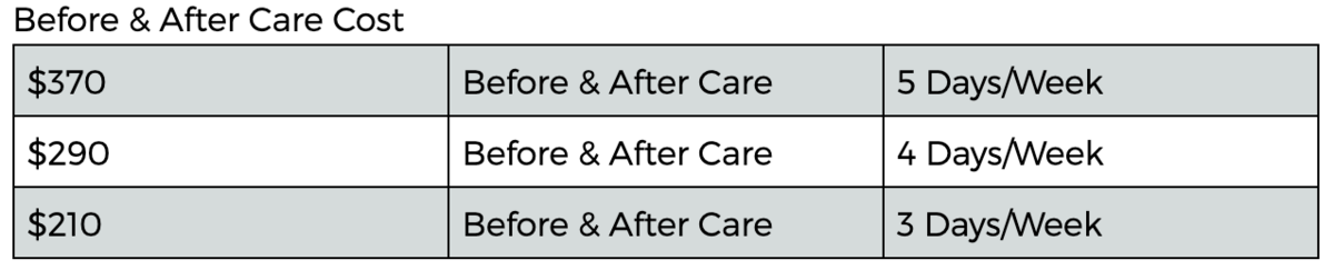 WR Before and After Care Fees 2
