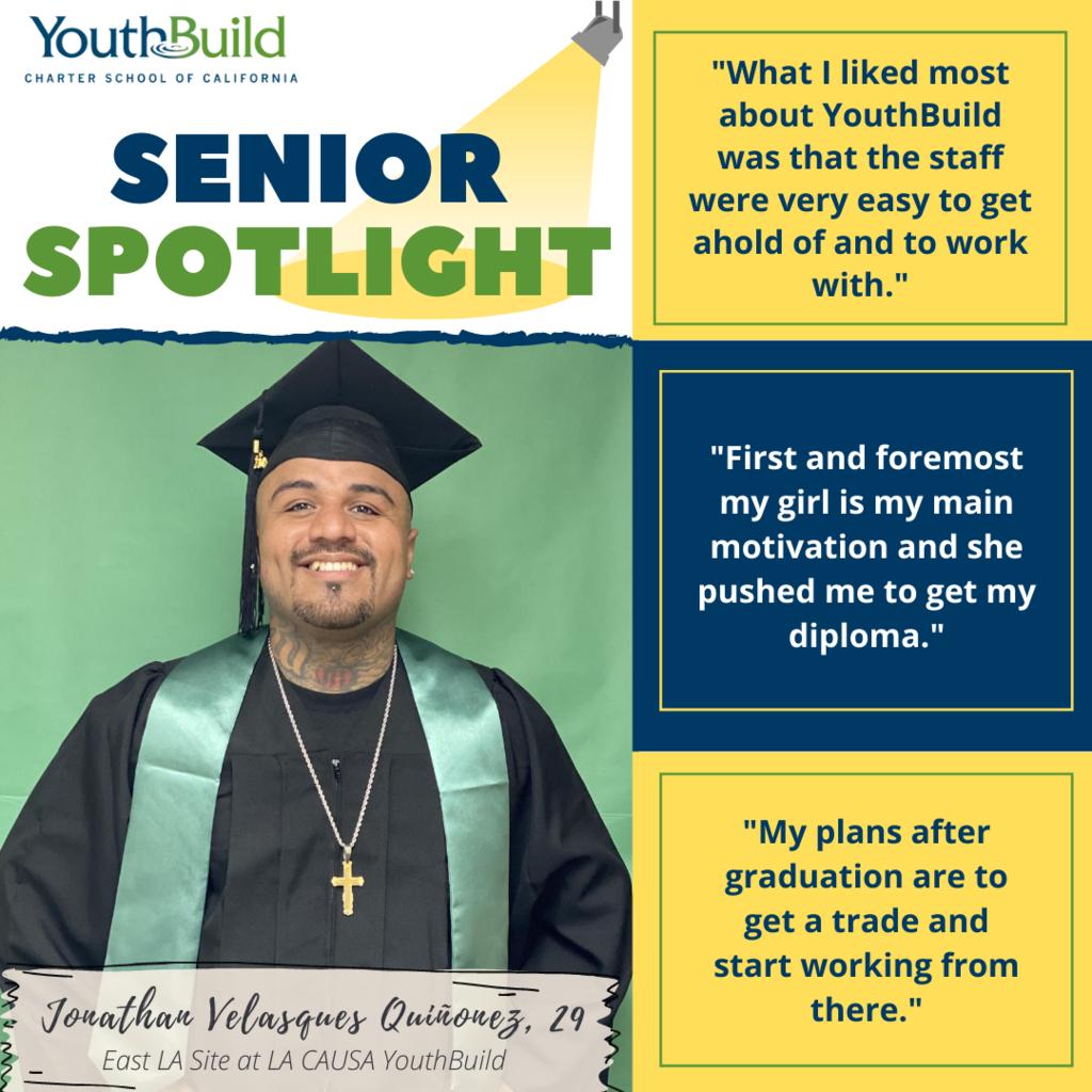 Senior Spotlight for graduate Jonathan Quinonez