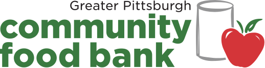 food bank logo with apple and worm