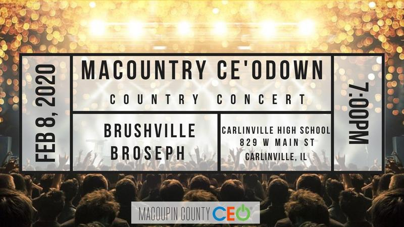 CEO Program Macountry CE'Odown Country Concert Announcement