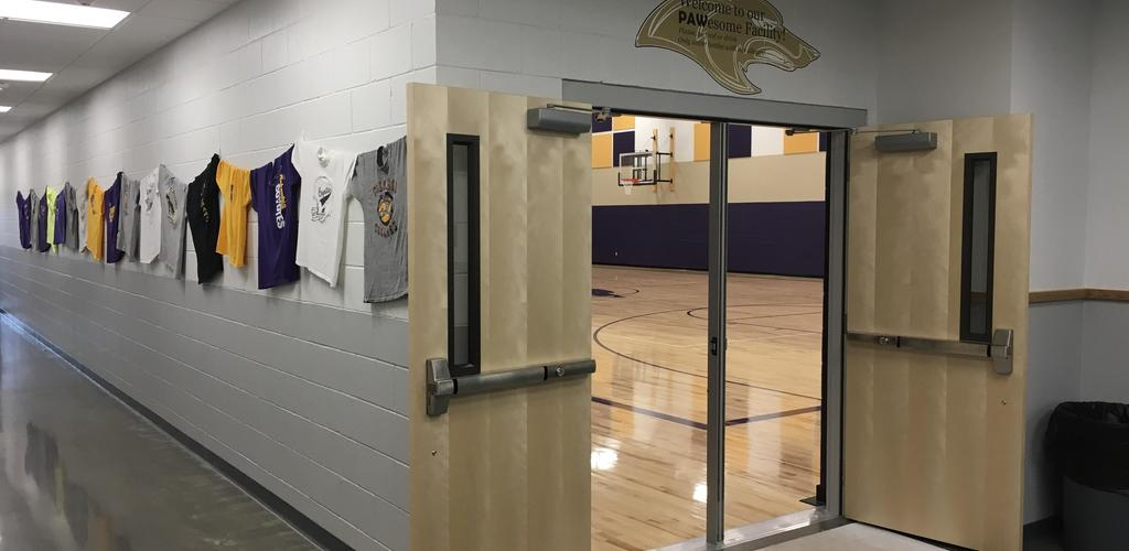 entrance to gym