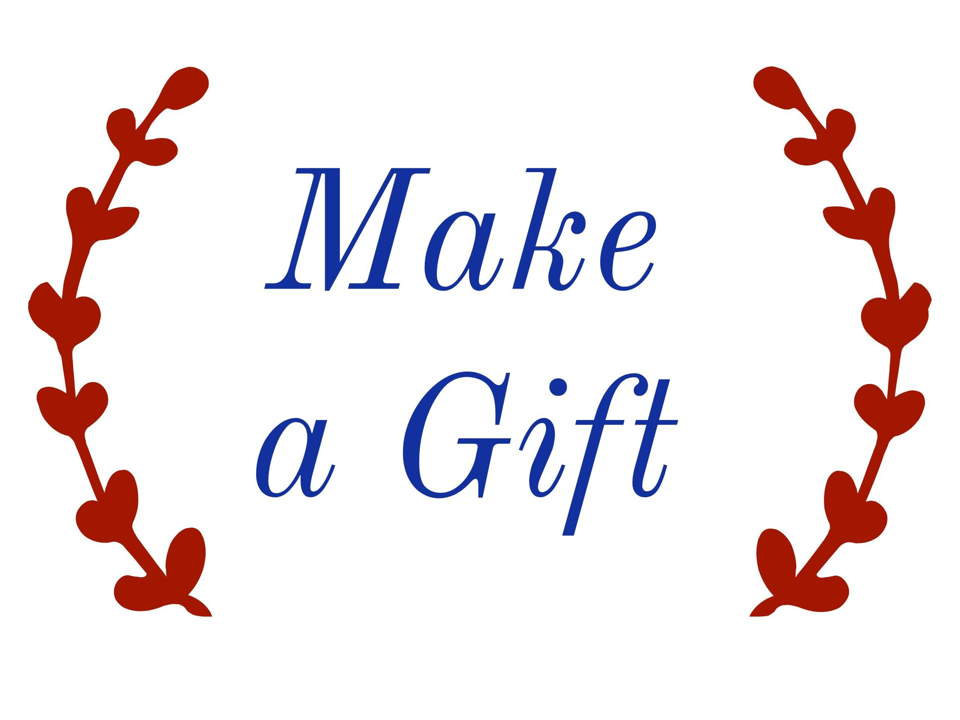 Make a Gift button