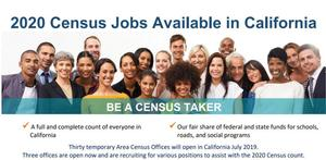 2020 Census Jobs Available in California. See the attached PDF for more information.