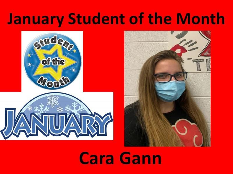 Cara Gann Selected January Student of the Month Featured Photo