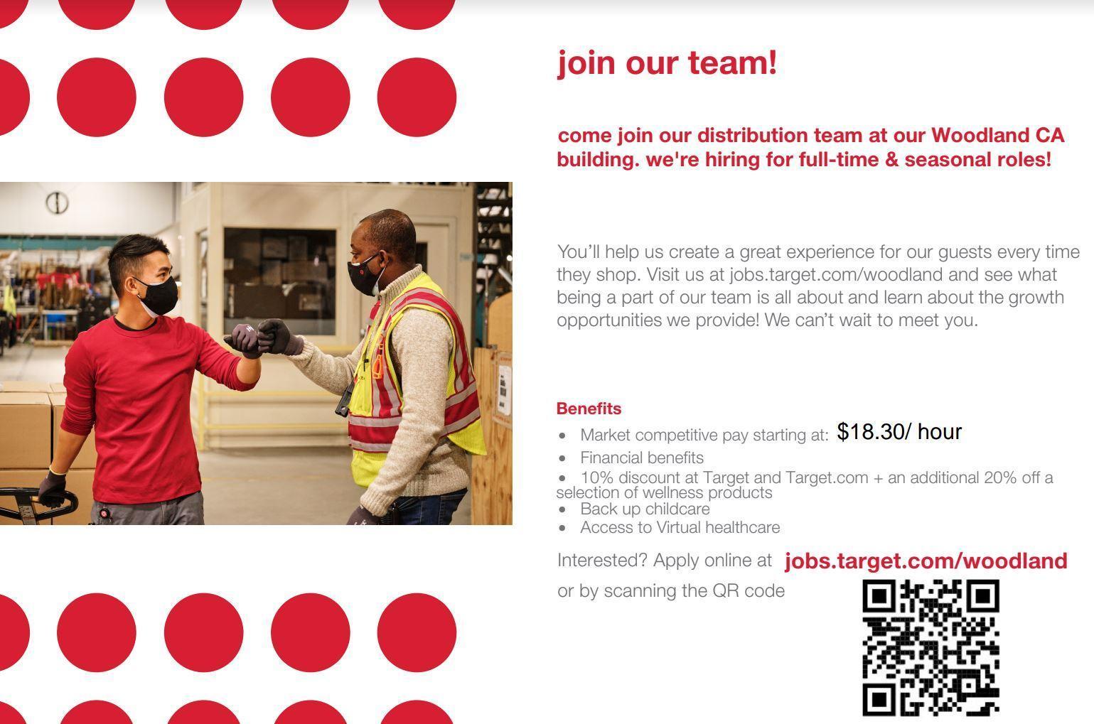 Target Distribution Center is hiring!