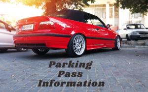 Parking Pass Info