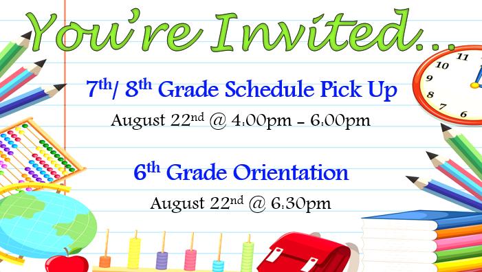 Schedule Pick-up Invitation