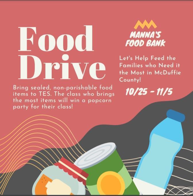 Manna food drive flyer