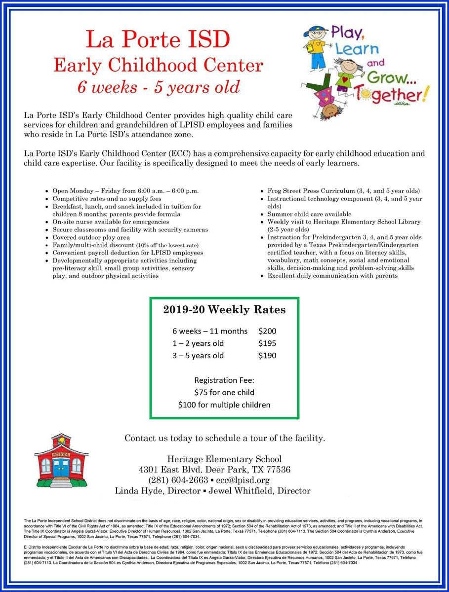 Early Childhood Center Flyer