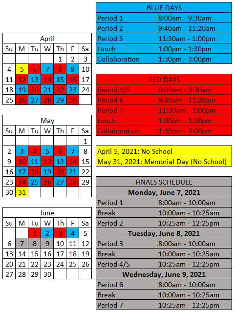 Quarter $ Schedule