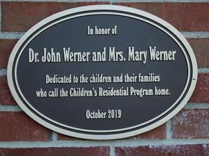 Werner family plaque