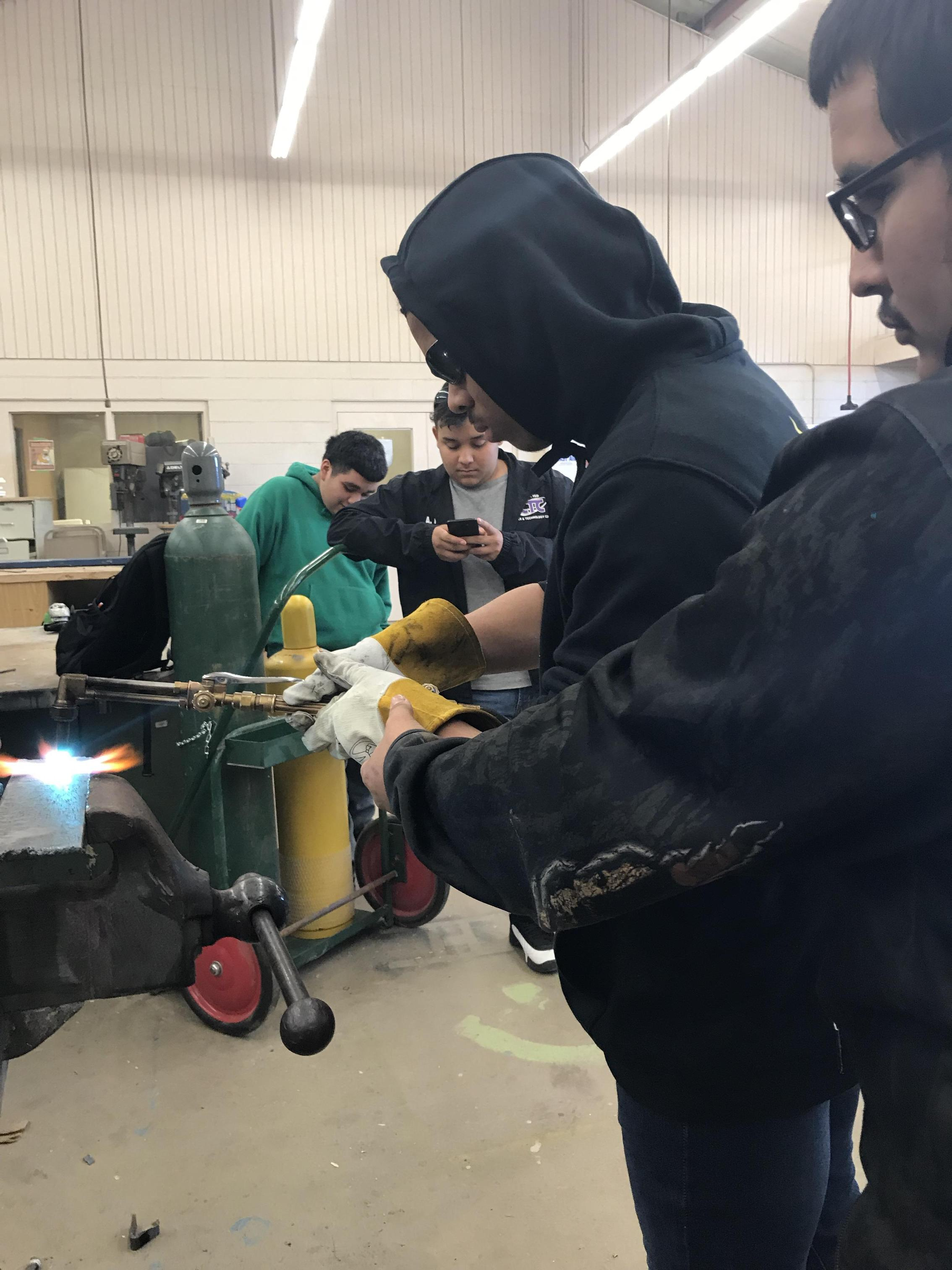 Using the cutting torch