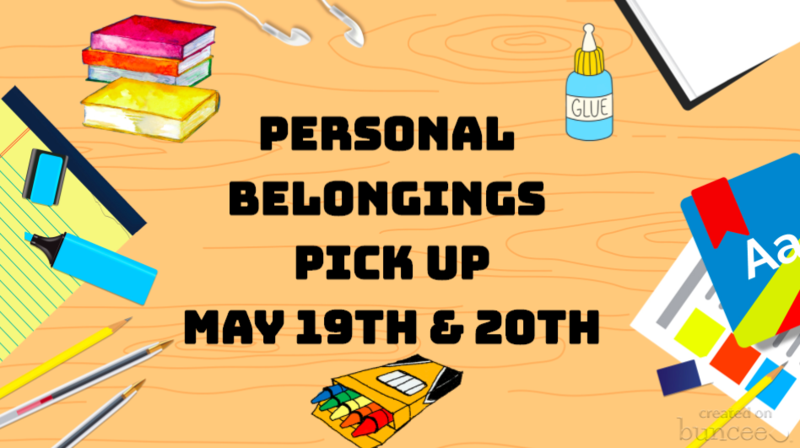Personal Belongings Pick Up and Drop off of School Property Materials Featured Photo
