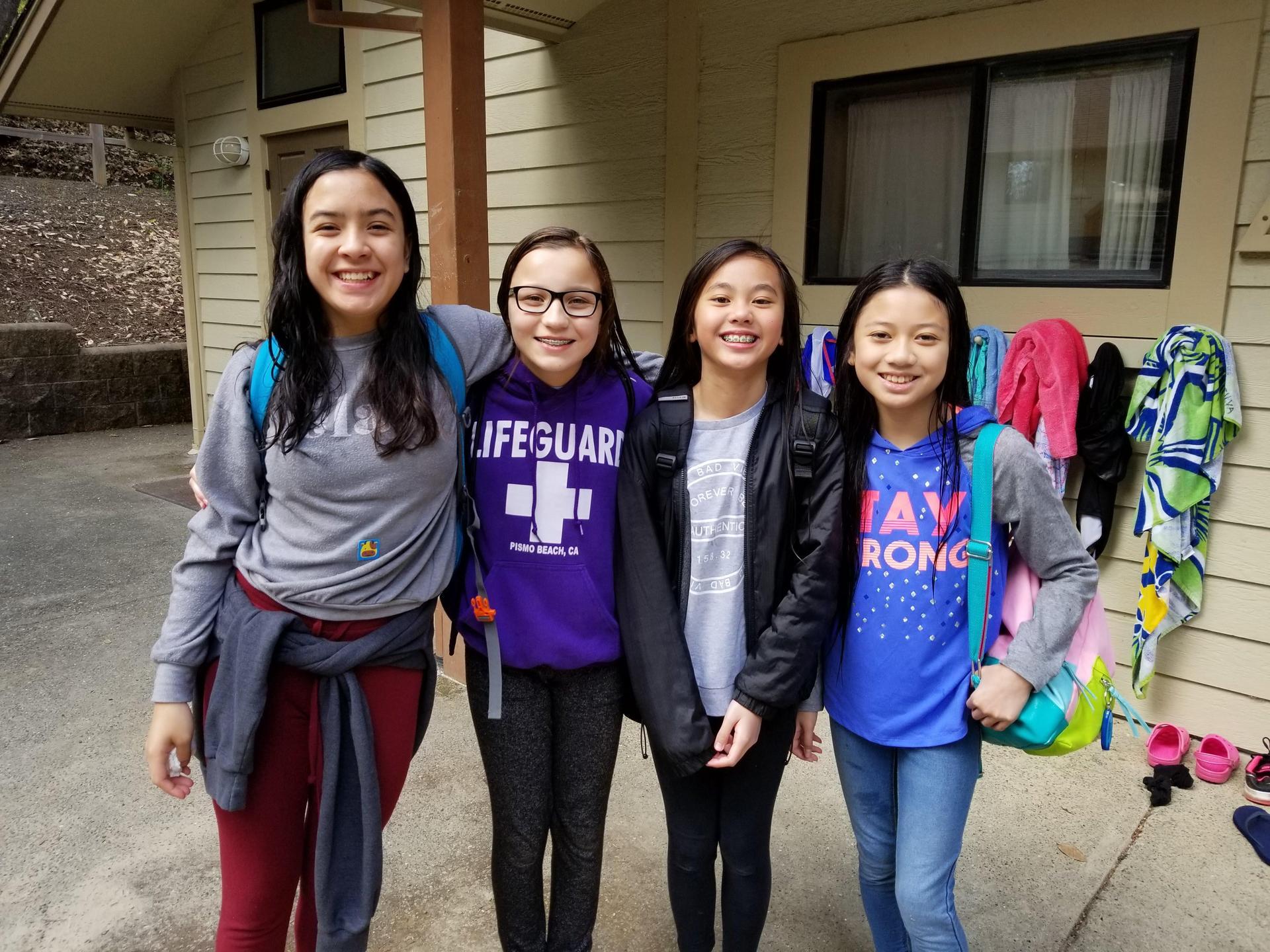 6th graders at the Caritas Creek science camp.